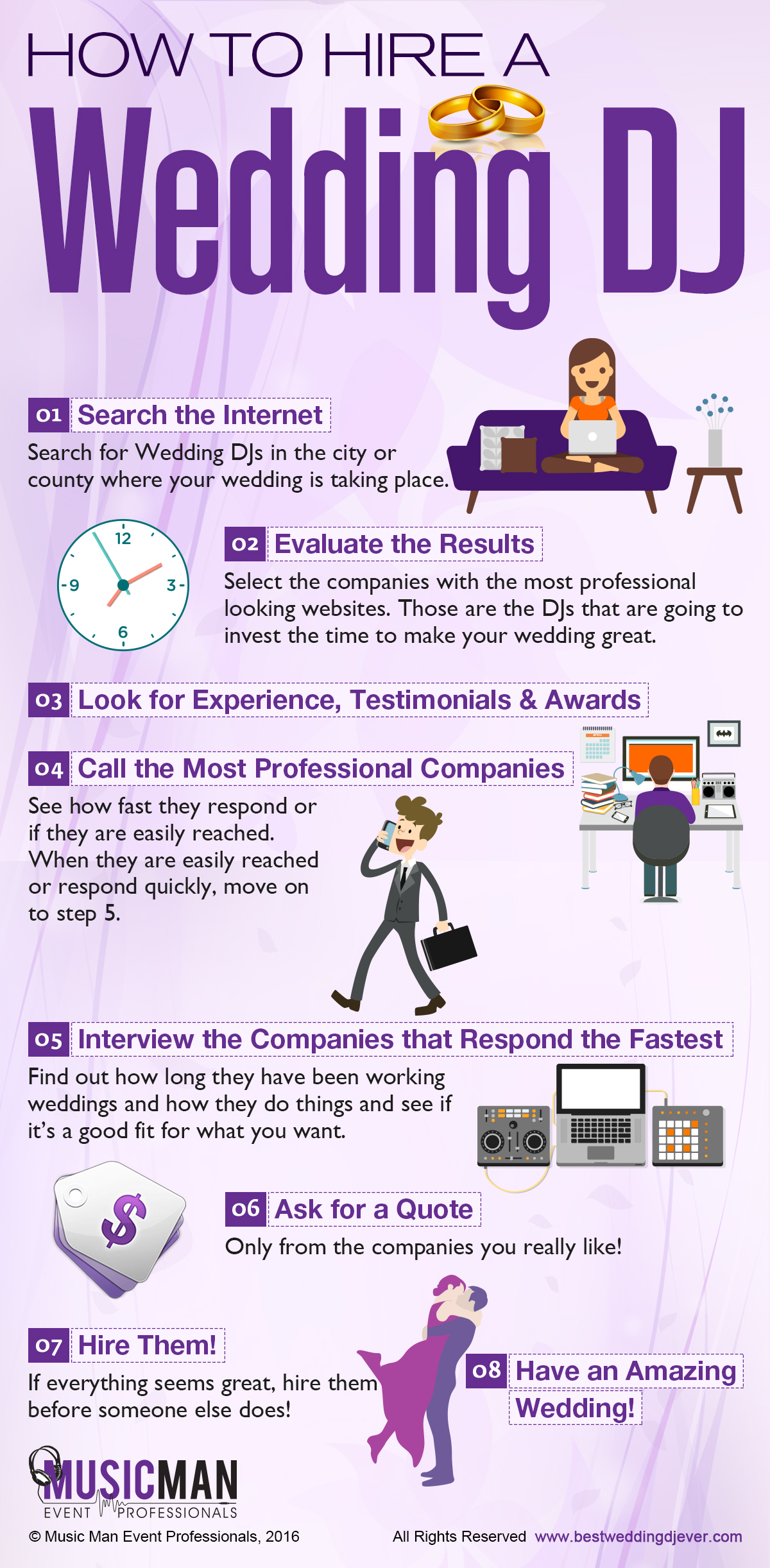Here Is A Helpful Infographic On How To Hire Wedding Dj If You Follow This Procedure Will Have An Amazing Time With Great