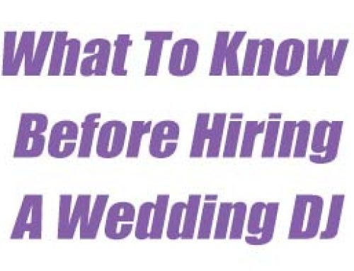 Hiring a Professional Wedding DJ
